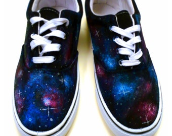 Custom Hand Painted - Galaxy on Vans Shoes