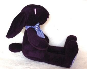 Plush bunny, rabbit, stuffed, purple  - Easter bunny - baby shower toy