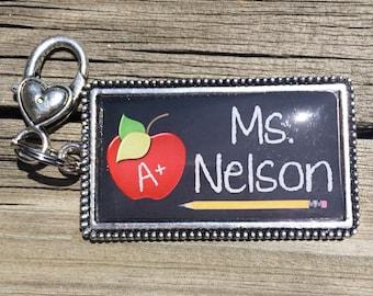 PERSONALIZED TEACHER keychain, Teacher Appreciation School Gift,  Custom teacher gift, teacher gift personalize
