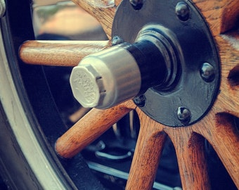 Wooden Wheels - Rustic Wall Art - Car Art Prints -  Retro Print - Vintage Car Photography - Garage Art - 8x10