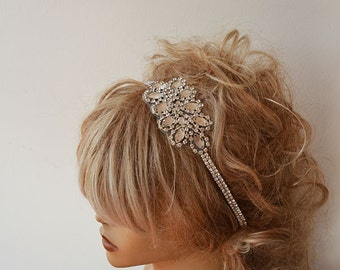 Headband, Rhinestone Headband, Bridal Headband, Wedding Hair Accessory,  Bridal Hair Accessories