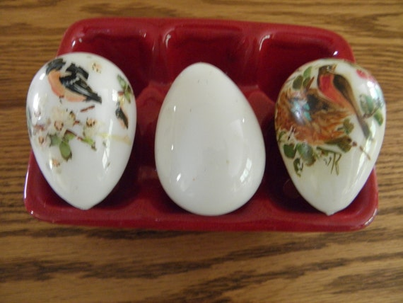 Antique Hand Blown Eggs Hand Painted