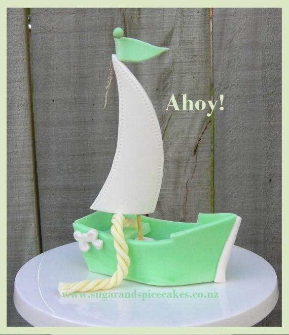 Fondant Sailboat Cake Topper Tutorial