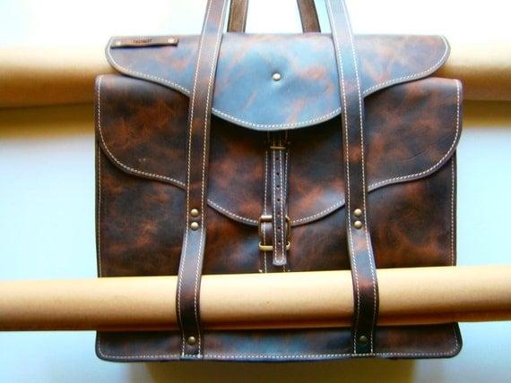 Landscape Designer Large XXL Bag, Handmade Full Grain Leather Shoulder Bag, Projects Briefcase,
