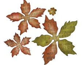 30 die cut poinsettia - choose the color you like!