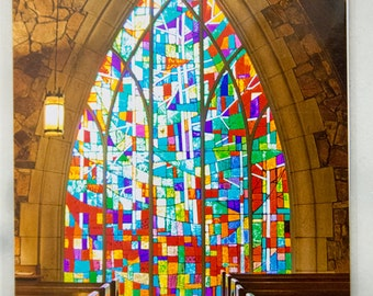 Stained Glass, Callaway Gardens Chapel, Army Veteran