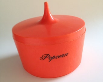 Vintage Popcorn Lidded Bowl I Dream of Jeannie / Genie style