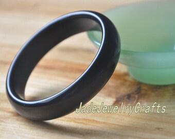AAA Grade Natural black jade bangle ( custom size Diameter 52mm -68 mm )