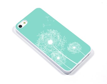iPhone 5/5s iPhone 5c iPhone 6/6plus Samsung Galaxy S3 S4 S5 iPod touch 4th/5th Gen -  Dandelion Seed mint pool- p37