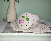 Small potpourri jar with rosebuds