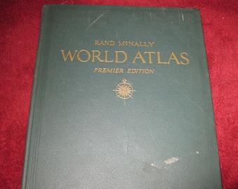 rand mcnally atlas � etsy
