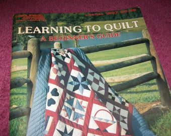 Vintage 1990 Learning To Quilt Craft Book