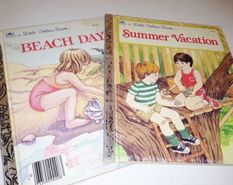 2 Golden Books - Summer Vacation and Beach Day