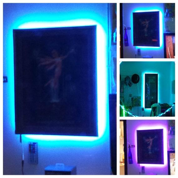 picture artwork frame led strip light kit battery operated. Black Bedroom Furniture Sets. Home Design Ideas
