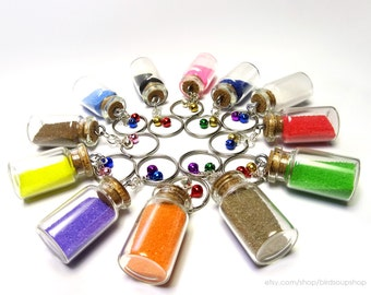 Large Colored Sand Keychain