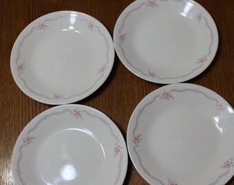4 Corelle English Breakfast Desert Plates