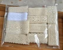 cotton trim lace,antique style lace trim set of 10 kinds,cotton tread lace trim