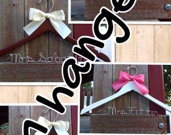 ELEVEN wedding hangers / SHIPS From USA / Personalized Wedding Hanger / Brides Hanger