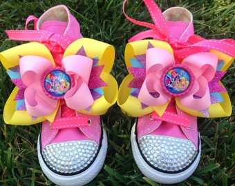 MY LITTLE PONY Shoes - My Little Pony Party - Twilight Sparkle Costume - My Little Pony birthday - Bling Converse - Infant/Toddler/Youth