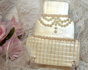Decorated Wedding Cookie - Cake Shape