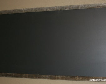 "Large Rustic Barnwood Framed Chalkboard Chalk Black Board Display Menu 24""x36"""