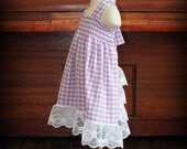 Ruffle Back Smocked Purple Gingham Sundress by Steady As She Goes baby 0 3 6 12 18 mo lace white check country pinafore fairy tale costume