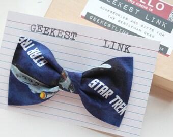 Trekie Blue Bow Tie Enterprise NCC-1701
