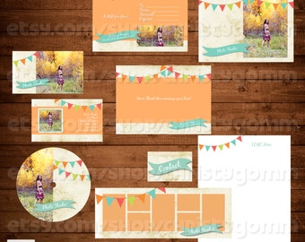 Pennant Marketing Kit Photoshop Templates for Photographers Photography Business, Boutiques & Small Business Branding, Premade Set