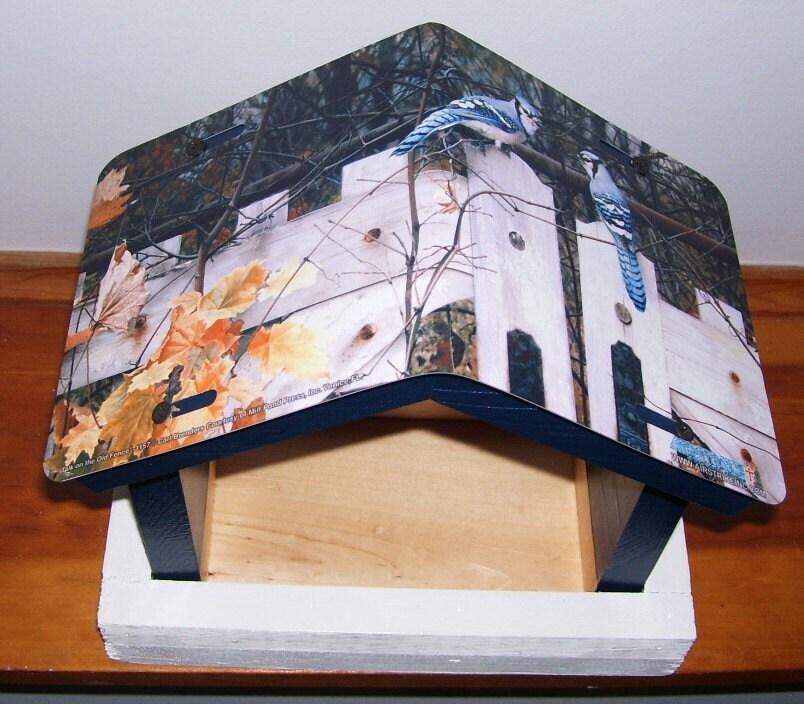 mangeoire oiseaux geai bleu plaque d 39 immatriculation. Black Bedroom Furniture Sets. Home Design Ideas
