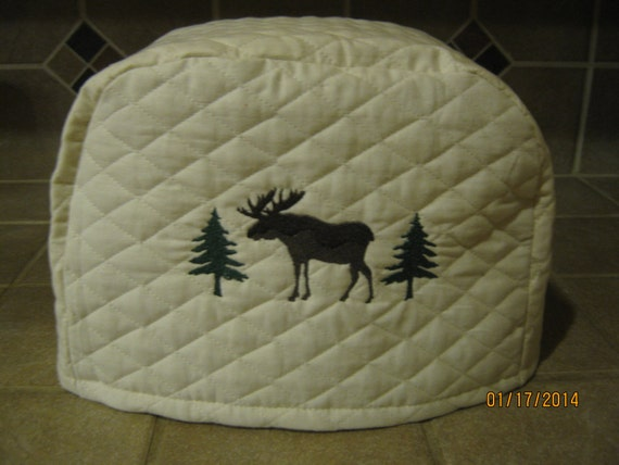 toaster cover 2 or 4 slice with moose trees design. Black Bedroom Furniture Sets. Home Design Ideas