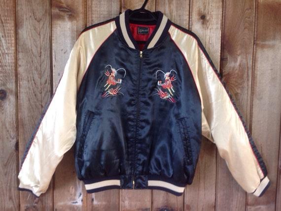 Vintage japanese embroidered bomber jacket