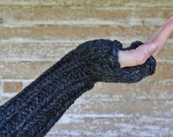 Fingerless Gloves Knitting Pattern - a set of INSTRUCTIONS to knit the gloves - AWARENESS