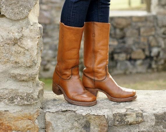 Vintage Frye Campus Boots Frye Cowboy Boots Frye Platform