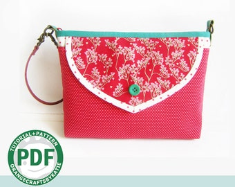 Cosmetic bag / PDF sewing tutorial and patterns / small bag