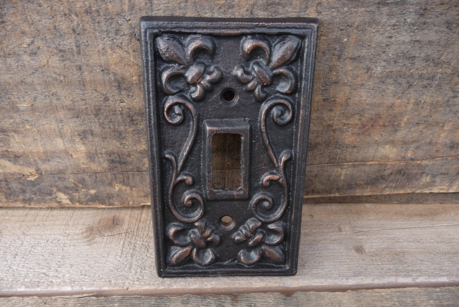 Vintage style cast iron metal switch plate switchplate cover - Wrought iron switch plate covers ...