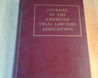 On Sale Journal of the American Trial Lawyers Association Reference Book 1965, Volume 31