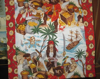 14 x 14 Unique Pillow Cover - Captain Jack Look-alike Meets Blackbeard and his Scurvy Pirate Crew