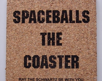 Spaceballs the coaster - cork coaster set
