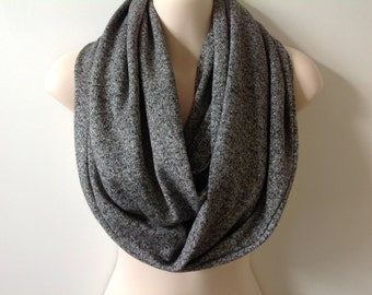 SALE - Gray Shimmering Knit Infinity Scarf
