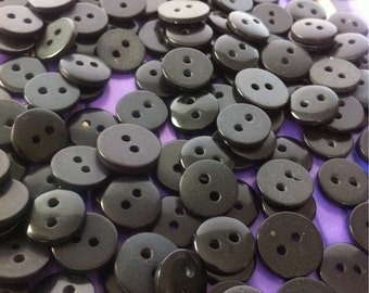bulk 200 black plastic tiny  buttons BAG NUMBER 11
