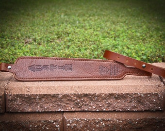 Leather Handmade Rifle Sling or Gun Sling can be customized