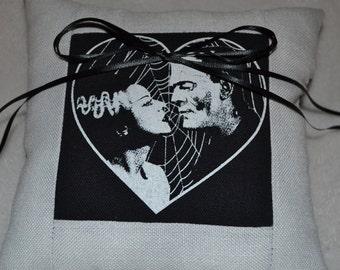 Bride of Frankenstein Ring Pillow
