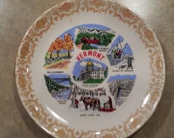Souvenir Vermont Plate
