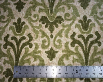 CLEARANCE ~~~ Cypress Trend fabric by the yard in moss, green, beige.