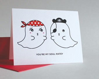 Soul Matey Greeting Card