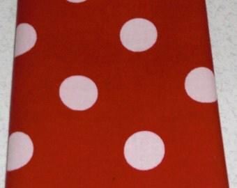 "11"" x 11"" Red and White Polka Dot Pocket Square"