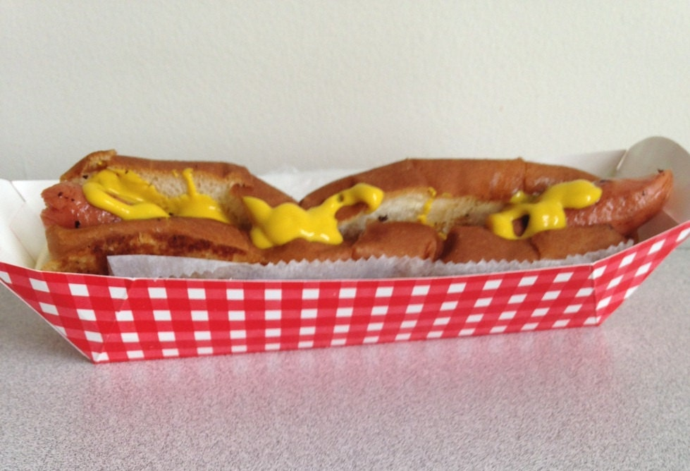 paper hot dog holders Lobster salad roll paper trays holders stamped red lobster weddings clambakes 18 ct.