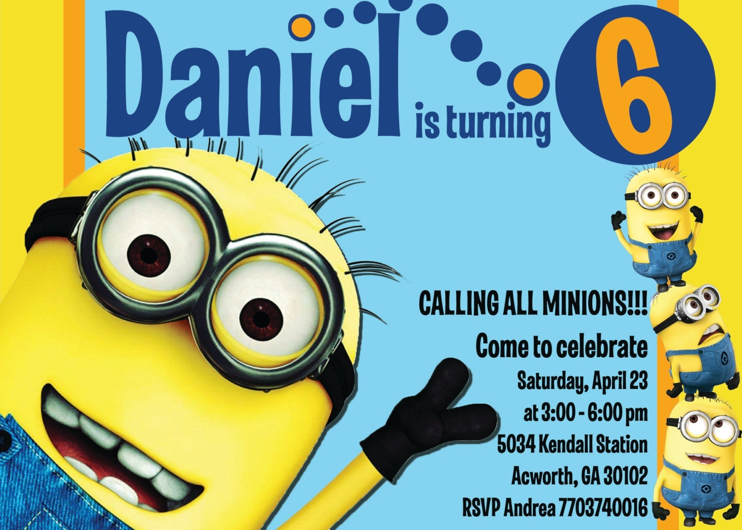 Displaying 18> Images For - Minion Blank Invitations...