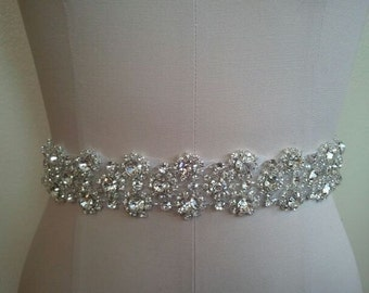 Wedding Belt, Bridal Belt, Sash Belt, Crystal Rhinestone - Style B50011