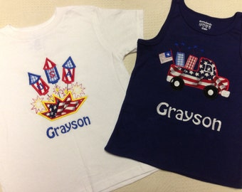 Personalized Fourth of July shirts
